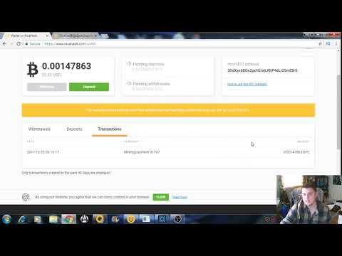 NiceHash Mining 12-23-17 Payout To Internal Wallet