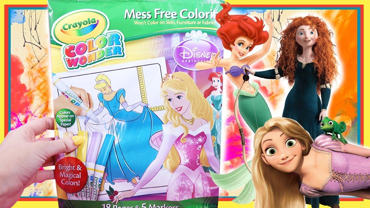 Colour With Me Disney Princess Mess Free Magic Colouring Crayola ...