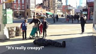 Body Bag in NYC April Fool's Prank 2015