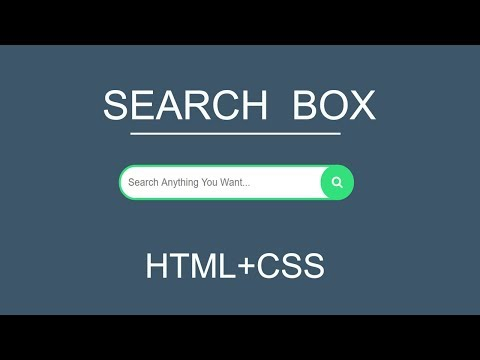 Stylish Search Box With Icon | With HTML CSS By Learn Web Code