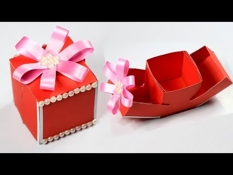 Gift Box | How to make a gift box | DIY Paper Crafts Idea | Christmas gift ideas