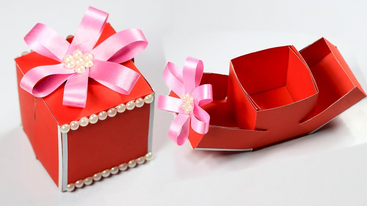 Gift Box How To Make A Gift Box Diy Paper Crafts Idea