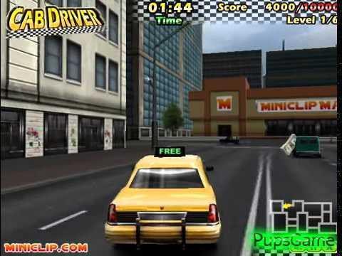 Бесплатные игры онлайн  Cab Driver, Гоняем на такси по городу, игры для детей