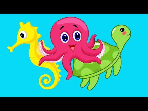 УГАДАЙ МОРСКОЕ ЖИВОТНОЕ! Учим животных океана - Развивающие мультики - Животные для детей