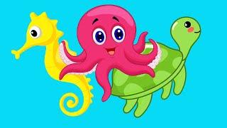 Учим Животных - Подводный Мир - Развивающие мультики для детей
