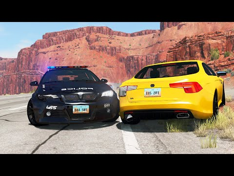 Multiple Police Car Chases 27 - BeamNG.Drive