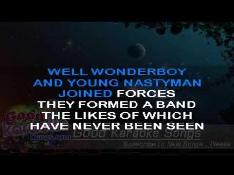Wonderboy -  The Kinks ( Karaoke Lyrics )