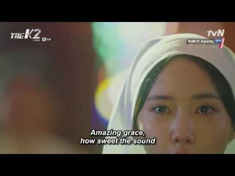 """The K2 - Ep 06 Anna Singing """"Amazing Grace"""" With Tears In Front Of Her Dad. Sounds So Sad..."""