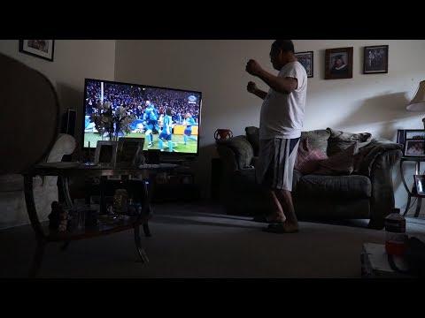 My dad's HILARIOUS reaction to Cristiano Ronaldo's bicycle kick goal against Juventus