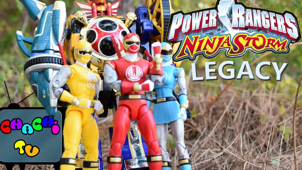 Power Rangers Ninja Storm Legacy Figures Review 2016
