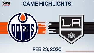 NHL Highlights | Oilers vs. Kings- Feb. 23, 2020