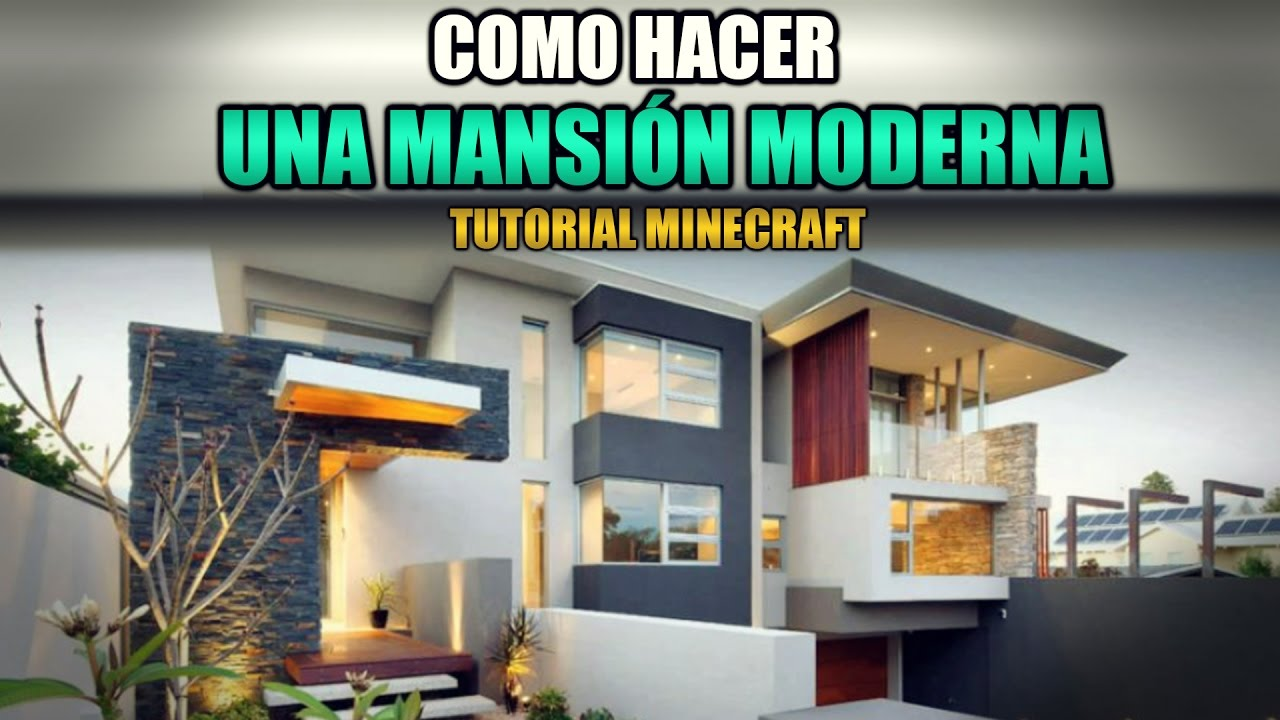 Como hacer la mejor casa moderna de minecraft 2017 youtube for Pareti colorate casa moderna