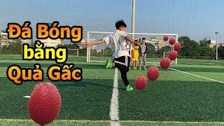 Thử Thách Bóng Đá mùa Asian Cup 2019 Đỗ Kim Phúc thách Quang Hải nhí sút phạt và đá bóng quả Gấc