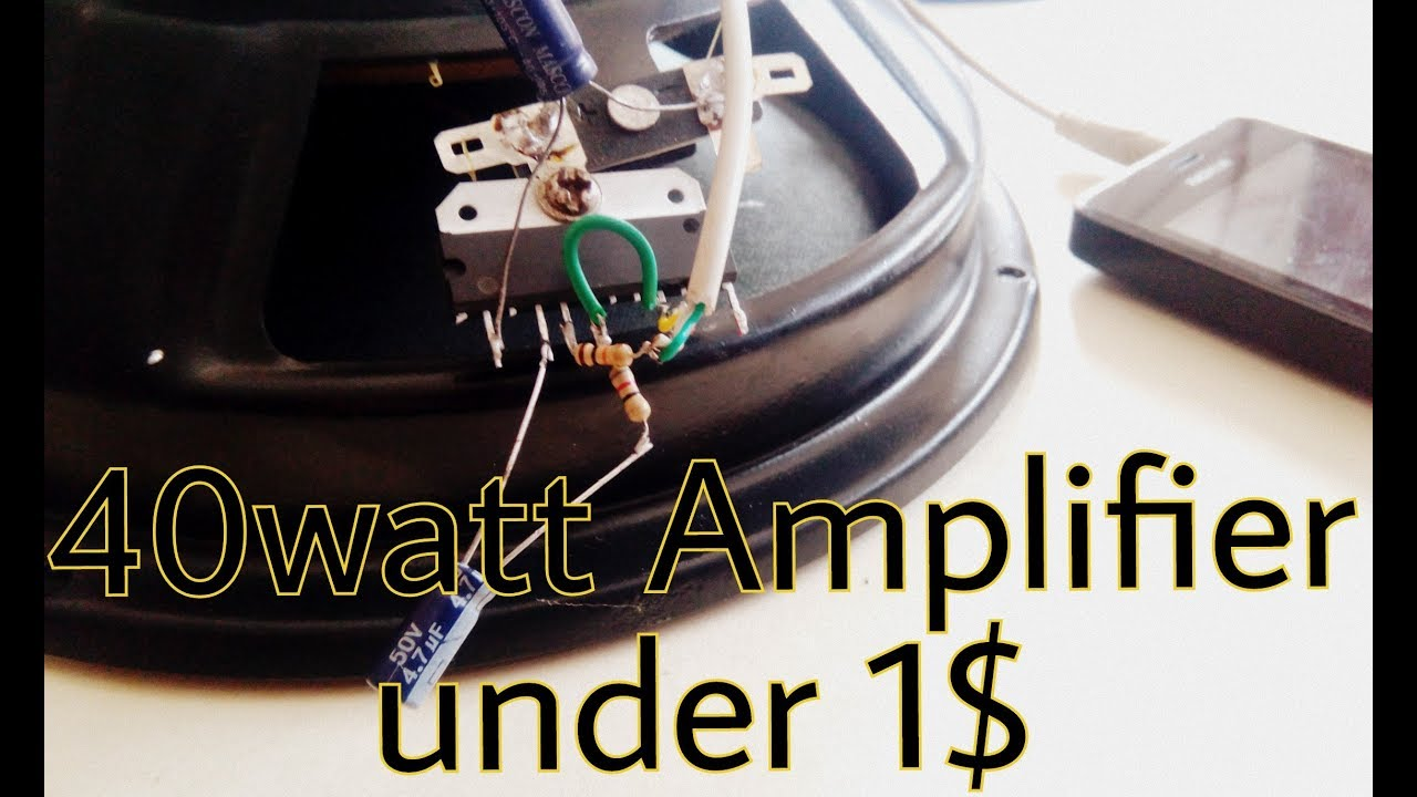 Audio Amplifier 40watt Under 1 Very Easy Using Ic 6283 Youtube 25w Hifi With Mosfet Circuit Diagram Like Subscribe If