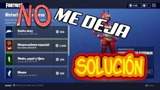 BECAUSE YOU DO NOT SELL SKINS IN FORTNITE! Solution