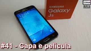 Samsung Galaxy J5 - Capa e película de vidro - Português
