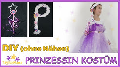 DIY Prinzessinnen-Kostüm OHNE NÄHEN - Faschingskostüm / Karneval