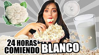 24 HORAS COMIENDO BLANCO | RETO SandraCiresArt | All Day Eating White Food Challenge