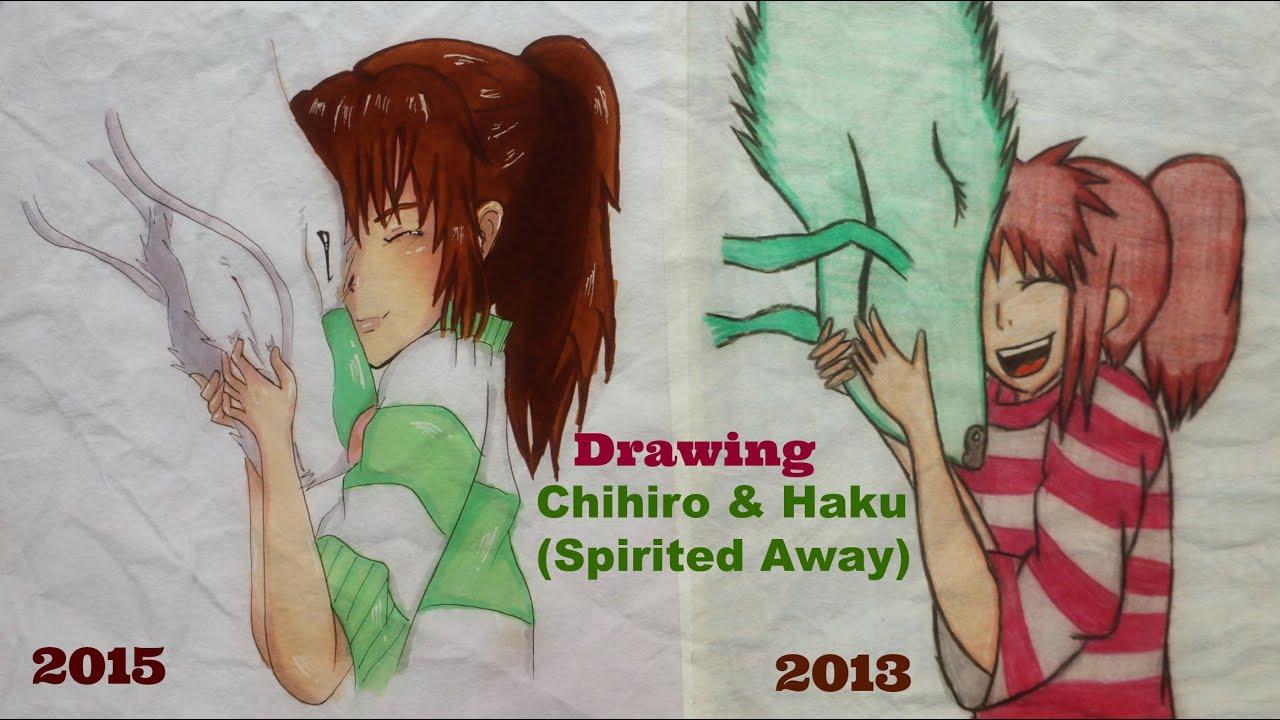 drawing chihiro amp haku spirited away youtube