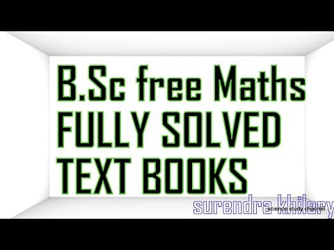 B Sc free Mathematics FULLY SOLVED TEXT BOOKS | books for