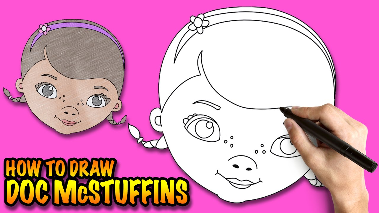 how to draw doc mcstuffins easy step by step drawing lessons for