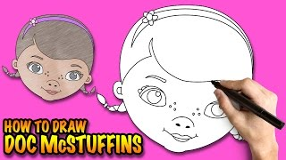 How to draw Doc McStuffins - Easy step-by-step drawing lessons for kids
