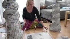 Christina Salot bastelt Lampen aus der Nordsee-Zeitung