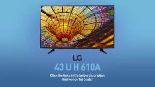 LG 43UH610A (43UH6100) 4K UHD HDR Smart LED TV - 43