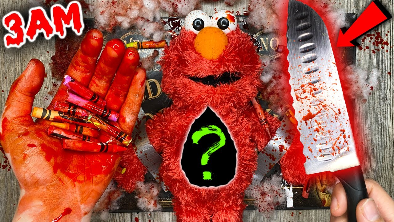 (SCARY) CUTTING OPEN HAUNTED ELMO DOLL AT 3AM!! *WHAT'S INSIDE HAUNTED DOLL*