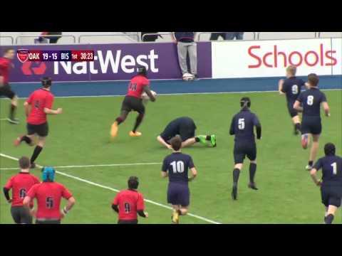 Oakham Under-15 centre Tyrese Johnson-Fisher scores four tries