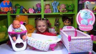 Кукла Ненуко. Распаковка и обзор новой куклы с набором. Видео для детей. Doll Nenuco