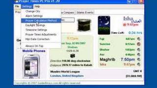 Prayer Times, Azan (Athan) and Qibla for PCs, Mac OS, Linux