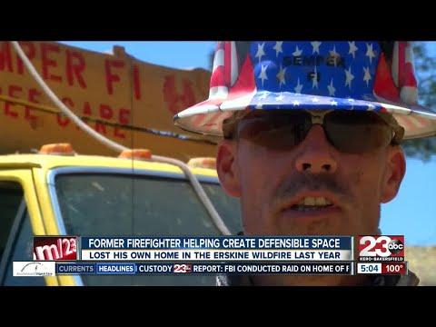 Former firefighter, Marine veteran helping create defensible space