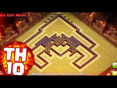 Clash of clans insane th10 war push base youtube