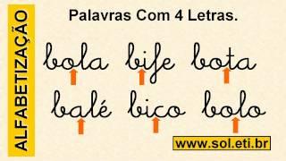 Palavras Simples Com 4 Letras Iniciadas Com B. Soletrando Vogais e Consoantes.