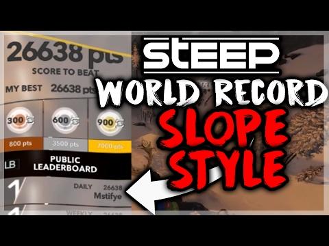 STEEP - Slopestyle World Record Score 26,638 by Mstifye