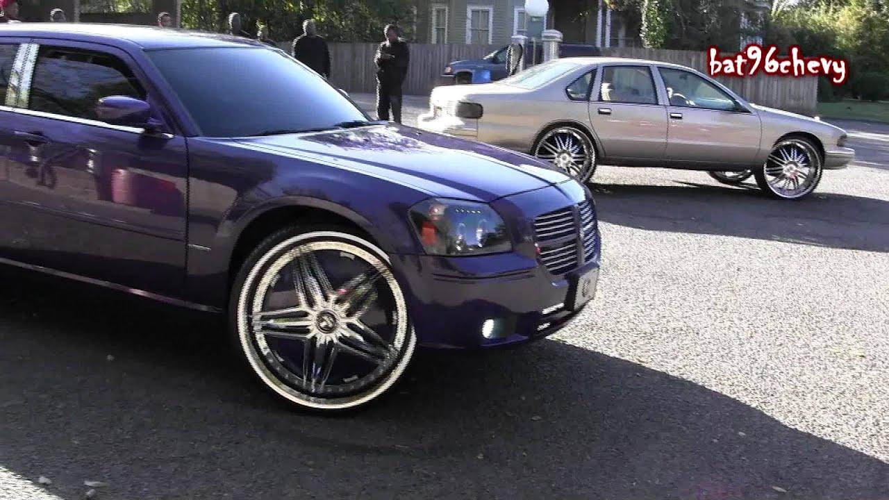 Purple Dodge Magnum On 28 Quot Dub Ghetto Bandit Floaters Pt 2