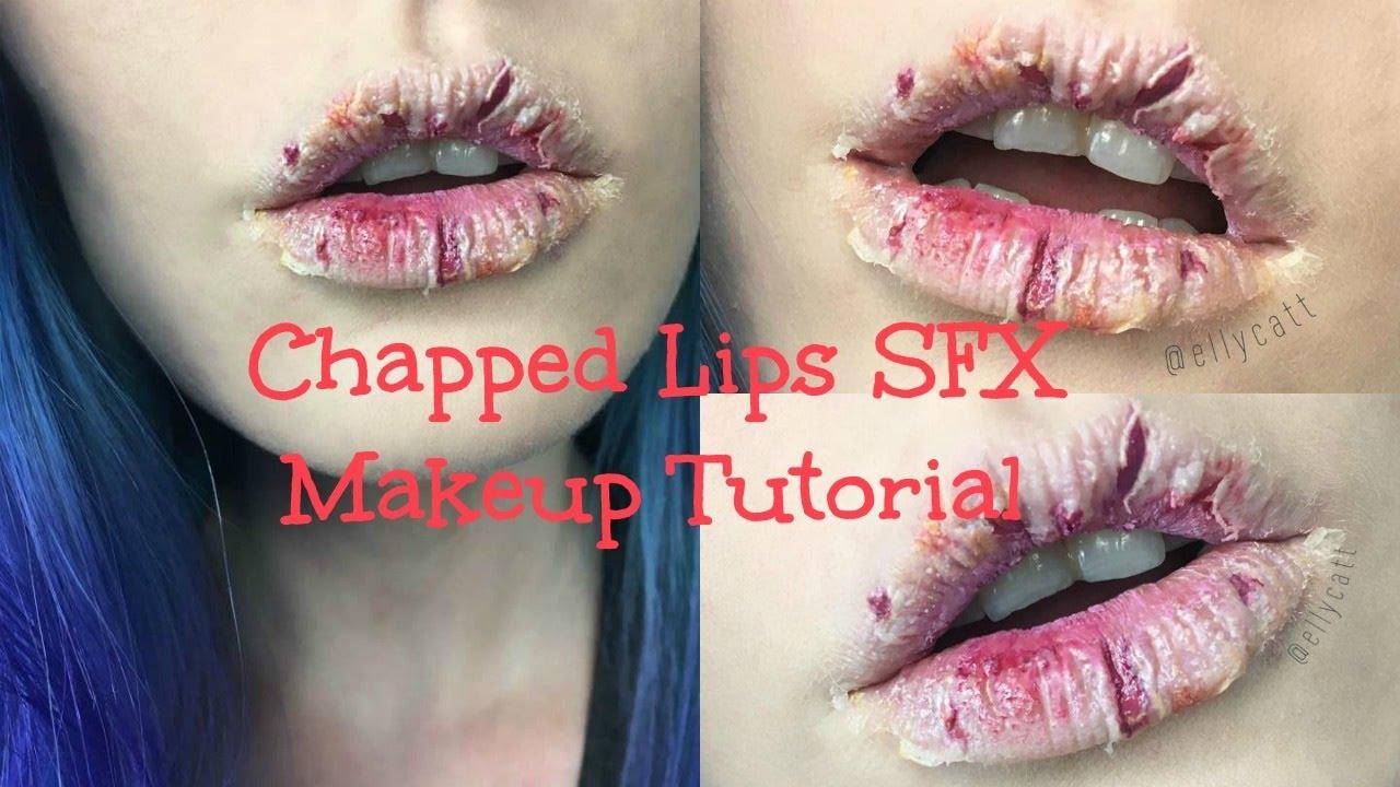 Chapped Lips SFX Makeup Tutorial