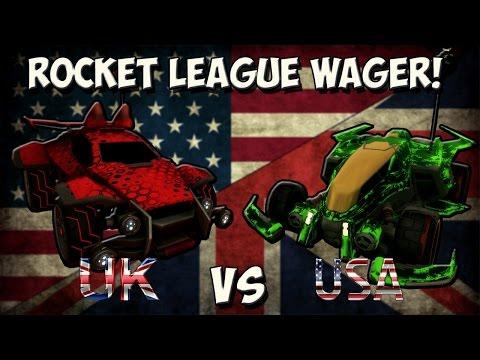 [UK vs USA] Rocket League 2v2 - 20 KEY WAGER MATCH! | pickapixel & Kazalex vs LayupBoyz
