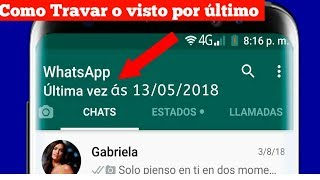 Como ongelar o visto por último do WhatsApp 2019
