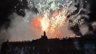 fireworks in Santiago de Compostela on the 24th of july