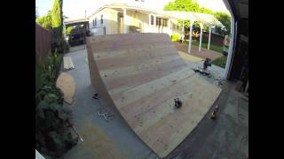 Gopro Hd Hero2 Quarter Pipe Build Time Lapse