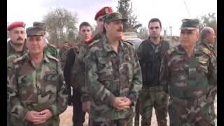 زيارة السيد العماد فهد جاسم الفريج وزير الدفاع إلى وحداتنا العاملة في درعا