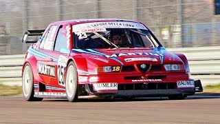 Alfa Romeo 155 V6 Ti DTM (1996) - EPIC Sound u0026 Track Action - Drive Experience Track Day