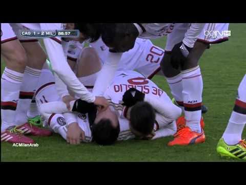 Cagliari 1-2 Milan 2013-2014    Pazzini for 1-2