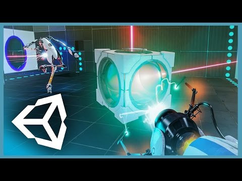 Unity 3D Portal Inspired FPS (concept Demo)