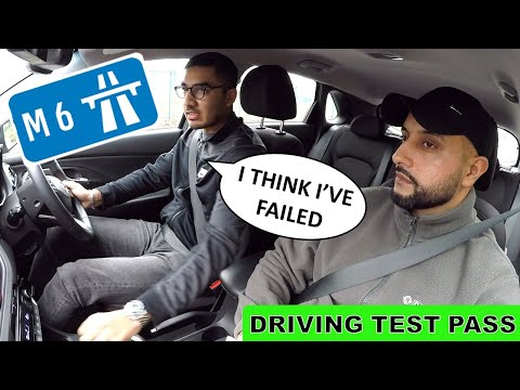 Learner Drives on Motorway for the First Time - HE PASSED!
