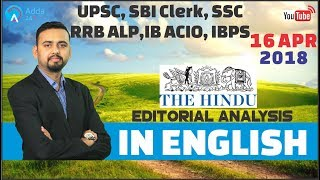 The Hindu Editorial Analysis (In English) | 16t...