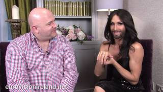 Repeat youtube video Eurovision Ireland Speaks To Eurovision Winner Conchita Wurst - Dublin on Friday June 27th 2014