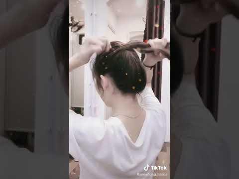 Cách cuộn tóc không cần kẹp càng cua